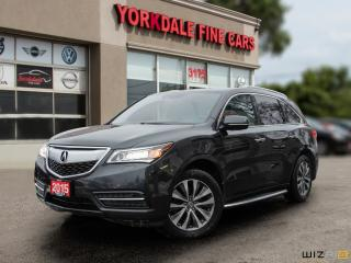 Used 2015 Acura MDX Navigation Package 7 Passengers. Leather. Roof. Camera. Very Clean for sale in Toronto, ON