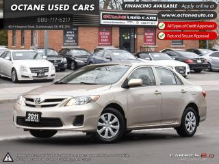 Used 2011 Toyota Corolla CE FINANCING AVIALABLE! for sale in Scarborough, ON