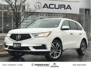 Used 2017 Acura MDX Navi -SH-AWD, Backup Cam, Pwr Trunk, Htd Steering Wheel for sale in Markham, ON