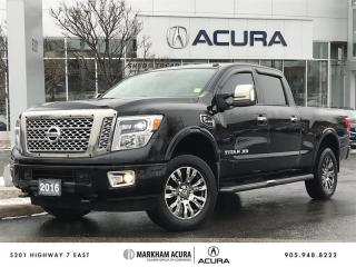 Used 2016 Nissan Titan Crew Cab XD Platinum 4x4 Diesel Navi, 360 Cam, Side Steps, Tunnel Cover for sale in Markham, ON