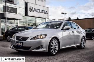 Used 2006 Lexus IS 250 RWD 6A for sale in Langley, BC