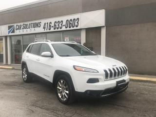 Used 2014 Jeep Cherokee Limited-NAVI-SNROOF-LEATHER for sale in Toronto, ON