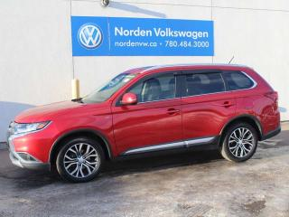 Used 2016 Mitsubishi Outlander GT - V6 ENGINE / HEATED LEATHER / REAR-VIEW CAMERA / SUNROOF / ALL WHEEL DRIVE for sale in Edmonton, AB