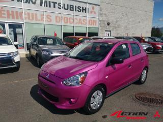 Used 2015 Mitsubishi Mirage 2015 Mitsubishi Mirage ES PLUS, AIR/5VIT/BLUETOOTH for sale in St-Hubert, QC