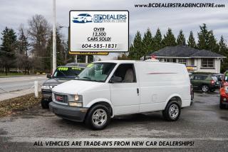 Used 2003 GMC Safari Cargo Van, Local, No Accidents, Bulkhead, Clean! for sale in Surrey, BC