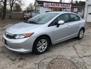 Used 2012 Honda Civic LX/Certtifed/Accident Free/Bluetooth/Gas Saver for sale in Scarborough, ON