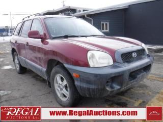 Used 2004 Hyundai Santa Fe GL 4D Utility for sale in Calgary, AB