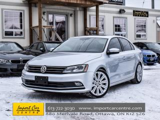 Used 2015 Volkswagen Jetta Highline 1.8 TSI TECH PKG NAV FENDER 5 SPD LOW KMS for sale in Ottawa, ON