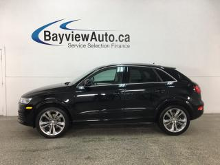 Used 2018 Audi Q3 2.0T Progressiv - HTD LTHR! PANOROOF! REVERSE CAM! BLUETOOTH! ALLOYS! for sale in Belleville, ON