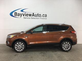 Used 2017 Ford Escape Titanium - SYNC! NAV! REVERSE CAM! KEYPAD! HTD LTHR! PANOROOF! PWR LIFTGATE! for sale in Belleville, ON