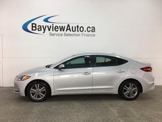 Used 2017 Hyundai Elantra GL - BLUETOOTH! REVERSE CAM! HTD SEATS! BSA! RCTA! ALLOYS! for sale in Belleville, ON