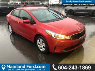 Used 2018 Kia Forte LX *ACCIDENT FREE* * LOCALLY DRIVEN* for sale in Surrey, BC