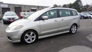 Used 2006 Mazda MAZDA5 Sport 6 Passengers Automatic Sunroof Alloys Certified 2Yr Warranty for sale in Milton, ON