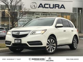 Used 2016 Acura MDX Tech SH-AWD, Navi, DVD, Backup Cam for sale in Markham, ON