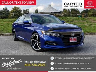 Used 2019 Honda Accord Sport 1.5T HEATED SEATS + LANEWATCH CAMERA + APPLE CARPLAY & ANDROID AUTO! for sale in Vancouver, BC