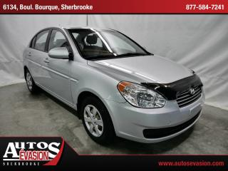 Used 2009 Hyundai Accent Gl + A/c + Très Bas for sale in Sherbrooke, QC