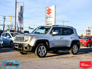 Used 2018 Jeep Renegade Limited 4x4 ~Nav ~Backup Cam ~Heated Leather for sale in Barrie, ON