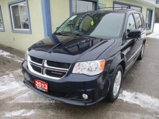 Used 2013 Dodge Grand Caravan LOADED CREW EDITION 7 PASSENGER 3.6L - V6.. CAPTAINS.. STOW-N-GO.. LEATHER.. DVD PLAYER.. BACK-UP CAMERA.. POWER DOORS & WINDOWS.. for sale in Bradford, ON
