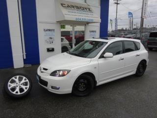 Used 2008 Mazda MAZDA3 GT Sport Hatch, Leather, Sunroof, Auto, 79,477 Kms for sale in Langley, BC