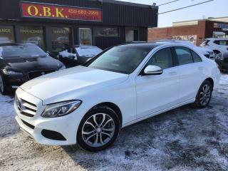 Used 2016 Mercedes-Benz C-Class Awd-Navigation-Cam for sale in Laval, QC