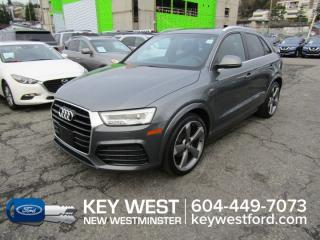 Used 2016 Audi Q3 Quattro S-Line Sunroof Leather Nav Cam Heated Seats for sale in New Westminster, BC