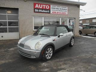 Used 2006 MINI Cooper CONVERTIBLE DECAPOTABLE ** 99 000 KM ** for sale in St-Hubert, QC