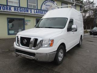 Used 2012 Nissan NV 2500 CARGO MOVING 3/4 TON 2 PASSENGER 5.6L - V8.. SHELVING.. SLIDING DOOR.. DIVIDER.. ROOF RACKS.. CD/AUX INPUT.. for sale in Bradford, ON
