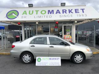 Used 2004 Toyota Corolla CE AUTO WE CAN FINANCE ANY CREDIT! for sale in Langley, BC