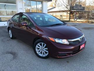Used 2012 Honda Civic EX|ONE OWNER|LOW MILEAGE|NO ACCIDENT for sale in Cambridge, ON