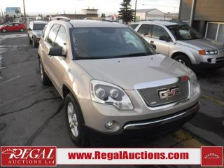 Used 2008 GMC Acadia SLE 4D Utility 4WD for sale in Calgary, AB