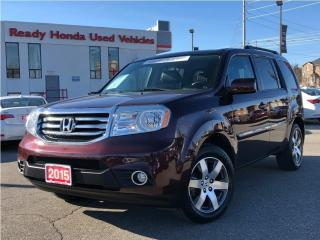Used 2015 Honda Pilot Touring - Navigation - Leather - Sunroof for sale in Mississauga, ON