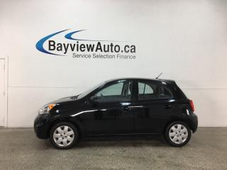 Used 2017 Nissan Micra SV - ONLY 6000KMS! BLUETOOTH! A/C! CRUISE! PWR GROUP! for sale in Belleville, ON