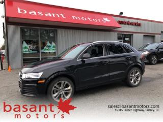 Used 2018 Audi Q3 Progressiv, Leather, Backup Camera, Panoramic Roof for sale in Surrey, BC