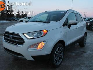 New 2018 Ford EcoSport TITANIUM 4WD, 2.0L GDI I4 ENGINE, SYNC CONNECT, REVERSE SENSING SYSTEM, REMOTE KEYLESS ENTRY for sale in Edmonton, AB