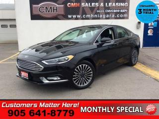 Used 2017 Ford Fusion SE  AWD LEATH NAV ROOF CAM P/SEATS MEM HS PARK-SENS for sale in St. Catharines, ON