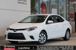 Used 2016 Toyota Corolla CE A/C for sale in Lachine, QC
