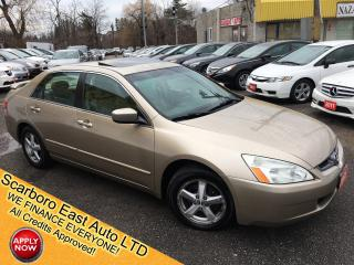 Used 2005 Honda Accord EX-L/ AUTO/ LEATHER/ SUNROOF/ ALLOYS/ RUNS GREAT! for sale in Scarborough, ON