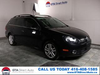 Used 2011 Volkswagen Golf Wagon HIGHLINE TDI Nav PanoRoof Leather Alloys Certified for sale in Toronto, ON