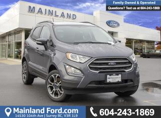 New 2018 Ford EcoSport SE 4WD 200A for sale in Surrey, BC