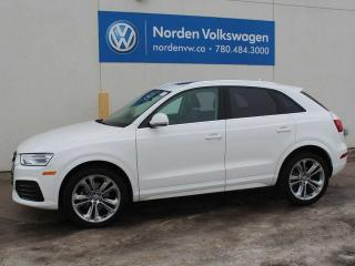 Used 2018 Audi Q3 Q3 PROGRESSIVE QUATTRO - HEATED LEATHER SEATS / PANORAMIC SUNROOF / ALLOY WHEELS / ALL WHEEL DRIVE for sale in Edmonton, AB