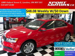 Used 2015 Volkswagen Jetta Trendline+New Tires+Sunroof+Camera+Bluetooth+A/C for sale in London, ON