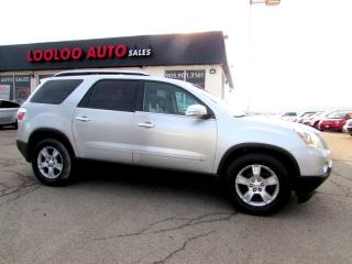 Used 2009 GMC Acadia SLT-1 AWD 7 PASS DVD LEATHER CERTIFIED 2YR WARRANTY for sale in Milton, ON