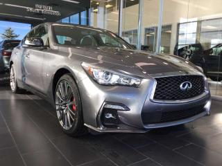 New 2019 Infiniti Q50 Red Sport 400 for sale in Edmonton, AB