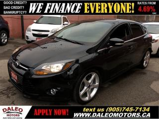 Used 2014 Ford Focus Titanium|LEATHER|NAV|SUNROOF|REAR CAM for sale in Hamilton, ON