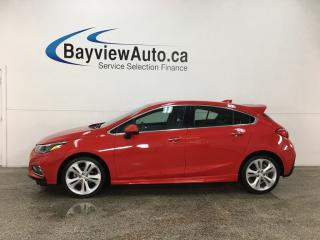 Used 2018 Chevrolet Cruze Premier Auto - HTD LTHR! REMOTE START! ONSTAR! REVERSE CAM! BLUETOOTH! WIFI! for sale in Belleville, ON
