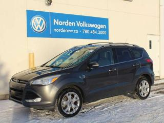 Used 2016 Ford Escape TITANIUM - NAV / HEATED LEATHER / PUSH-BUTTON START / ALL WHEEL DRIVE for sale in Edmonton, AB