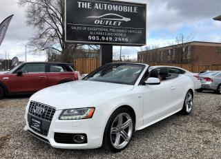Used 2011 Audi S5 Premium S-LINE Cabriolet CONVERTIBLE NO ACCIDENT for sale in Mississauga, ON