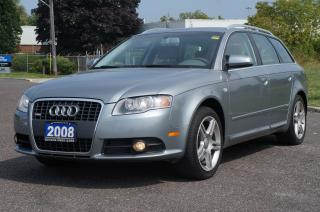 Used 2008 Audi A4 2.0T Avant S-Line Clean Vehicle Loaded! for sale in Scarborough, ON