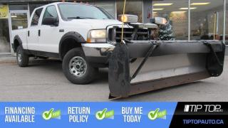 Used 2004 Ford F-250 XLT ** 5.4L V8, Snow Plow, 4x4, Crew Cab ** for sale in Bowmanville, ON