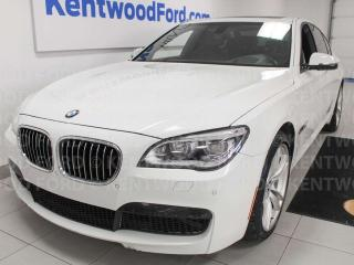 Used 2015 BMW 7 Series 750i xDrive, NAV, sunroof, heated/cooled power leather seats, push start/stop, back up cam for sale in Edmonton, AB
